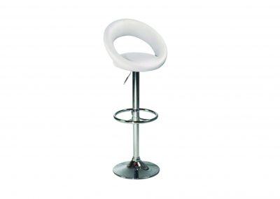Chaise haute Blanche chromé