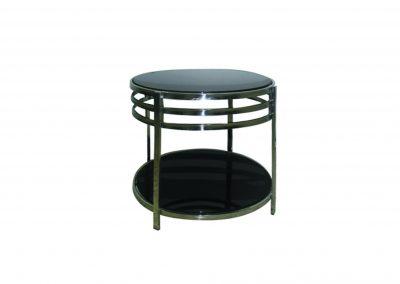 Table basse noire chromé